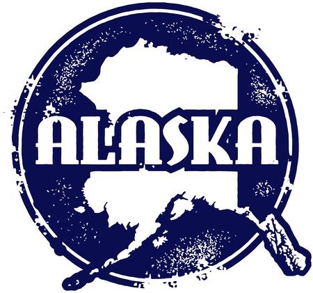 アラスカ州のスタンプ