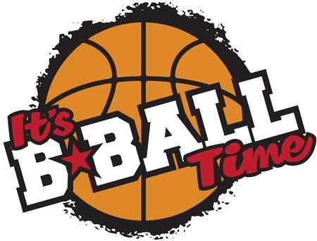 balon baloncesto: Lo s Tiempo Baloncesto Vectores