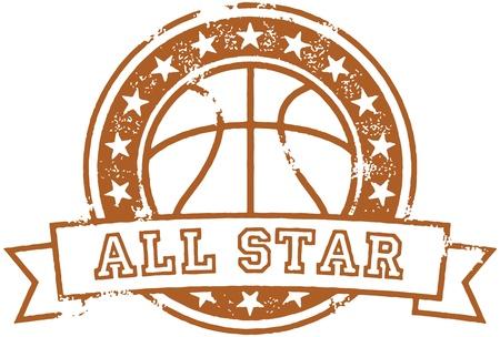 ビンテージ バスケット ボールすべての星