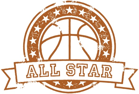 Vintage Basketball All Star Stock Vector - 18004779
