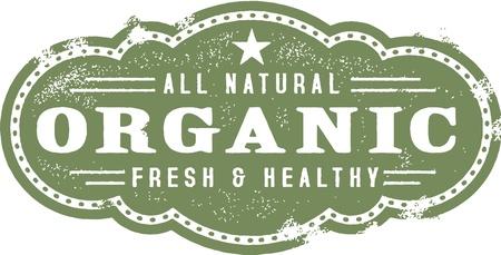 Vintage Organic Food Stamp Stock Vector - 18024076