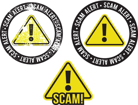 Scam Alert Crime Stamps Stock Vector - 18024079