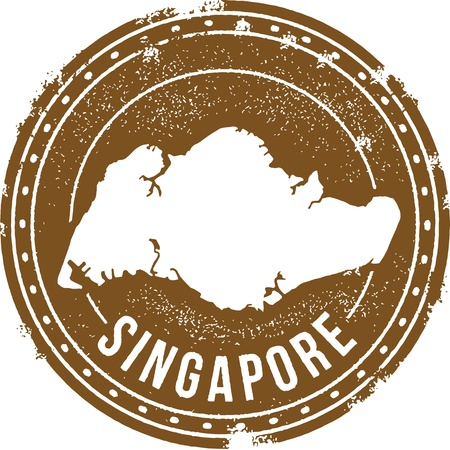 Singapore Land Stempel Stock Illustratie