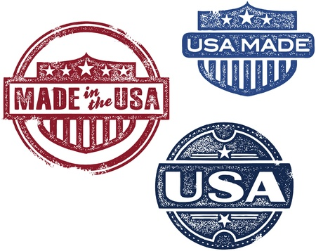 Vintage Style Made in USA Stamp Stock Vector - 18024082