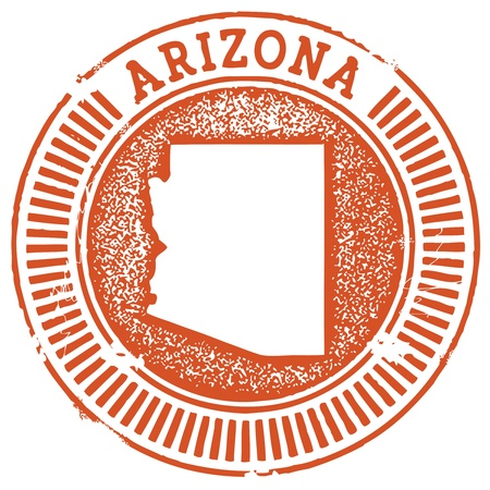 Vintage Arizona State StampSeal Vector