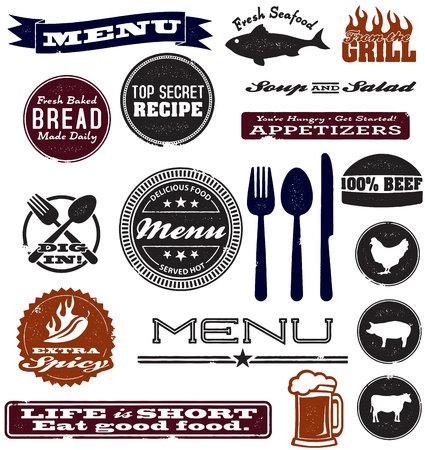 Vintage Menu Design Elements Stock Vector - 18151436