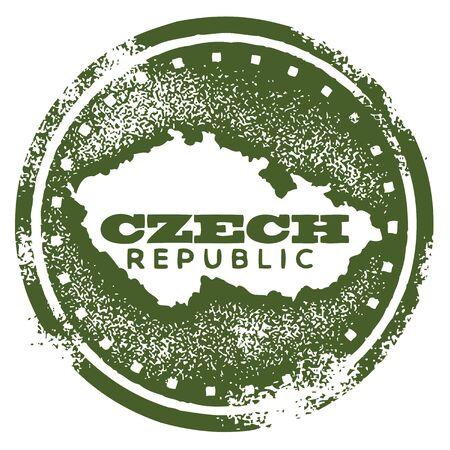 passaporto: Repubblica ceca Paese Timbro Vettoriali