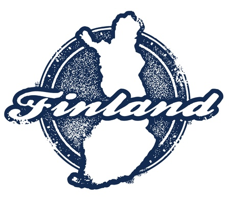 suomi: Vintage Finland Country Stamp