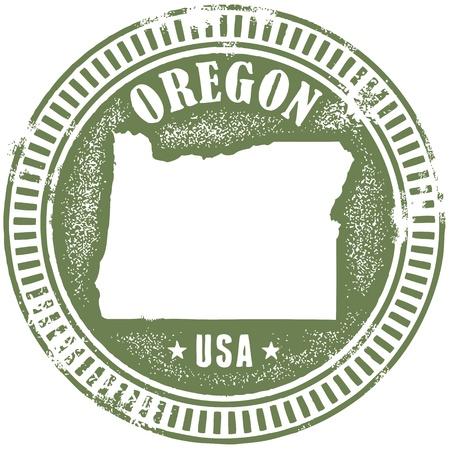 Vintage Oregon State Stamp Stock Vector - 18284565
