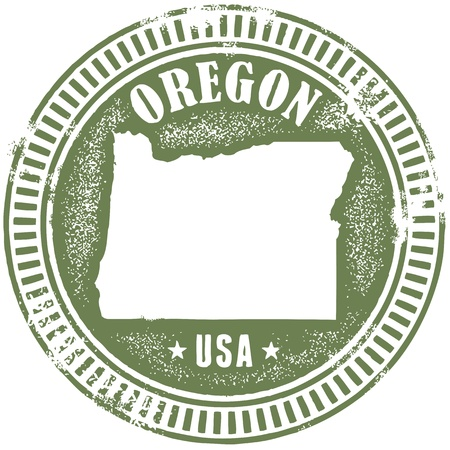 pacific northwest: Vintage Oregon State Stamp
