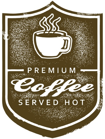 Vintage Premium Coffee Sign Vector