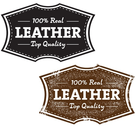 Real Quality Leather Stamp Vector