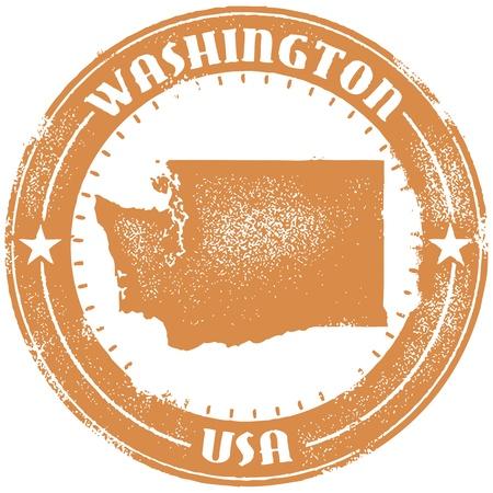 Washington USA State Stamp