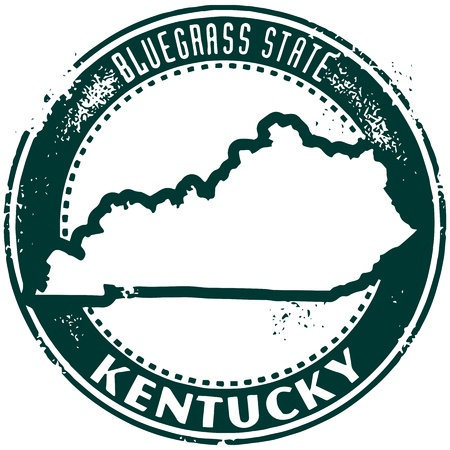 kentucky: Vintage Style Kentucky USA Stamp