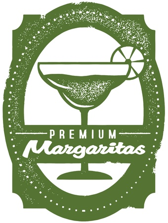 margarita drink: Premium Margaritas Bar Stamp