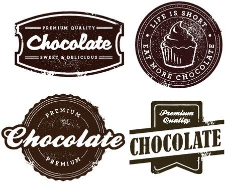 chocolate: Chocolate Dessert Stamps