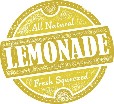 limonada: Muestra de la limonada vintage
