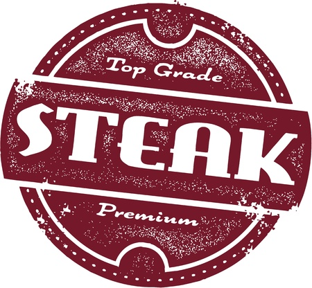 Vintage Steak Sign Vector