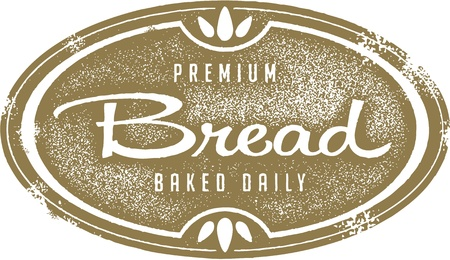 Vintage Bakery Bread Stamp Vector
