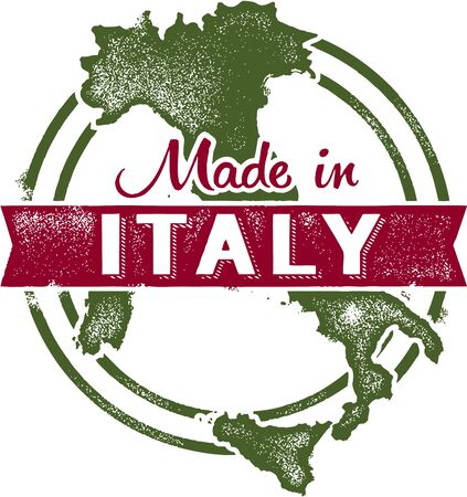 Made in Italy Stamp Stock Vector - 18664431