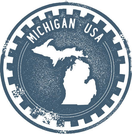 Michigan USA State StampSeal Vector
