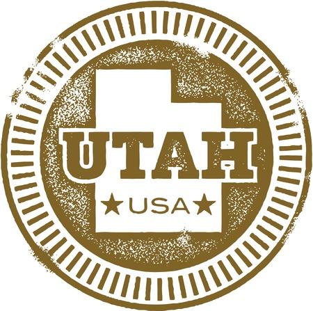 Utah USA State Stamp/Seal Illustration