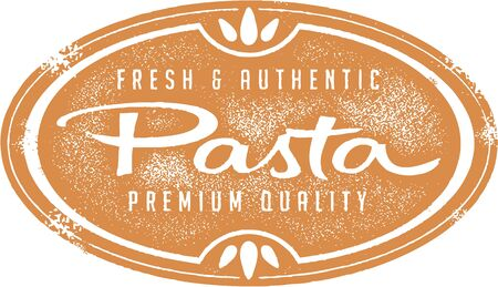 Vintage Fresh Pasta Stamp Vector
