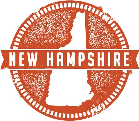 Vintage New Hampshire USA State Stamp Stock Vector - 18713670