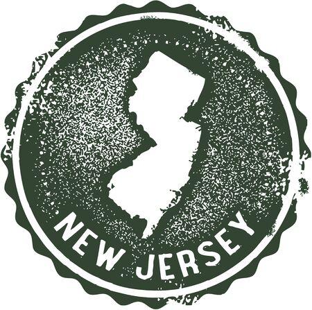 新しいジャージー米国州スタンプ