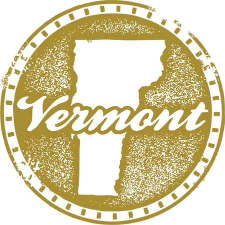 Vintage Vermont USA State Stamp Stock Vector - 18713669