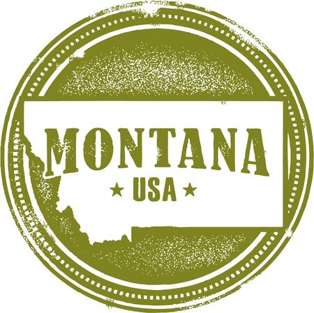 ヴィンテージ モンタナ米国州スタンプ