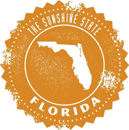 miami: Vintage Florida USA State Stamp