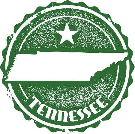 tennessee: Vintage Tennessee USA State Stamp
