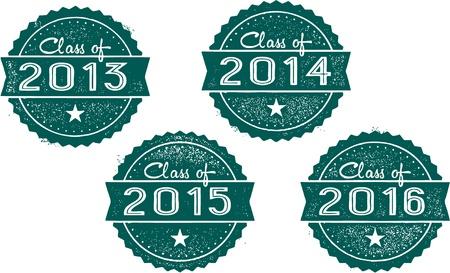 クラスの 2013、2014、2015 年 2016年スタンプ