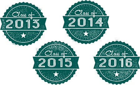 Class of 2013, 2014, 2015, 2016 Stamps Vector