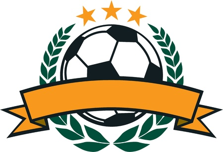 Soccer Laurel Wreath Crest Vector