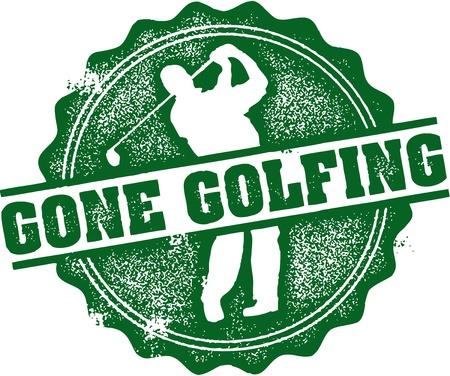 Gone Golfing Stamp Ilustrace