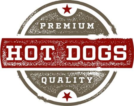Premium Hot Dogs Vintage Sign