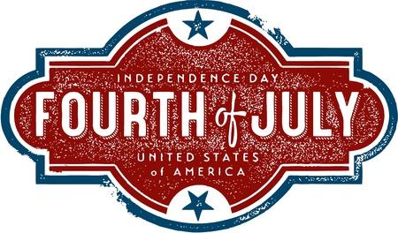 ビンテージ独立記念日の記号