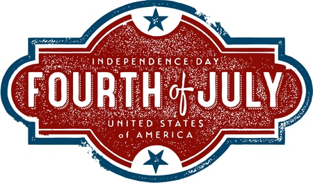 4th of july: Vintage Fourth of July Sign