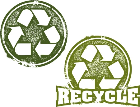 reduce reutiliza recicla: Reduzca la reutilizaci�n de reciclaje sello de goma