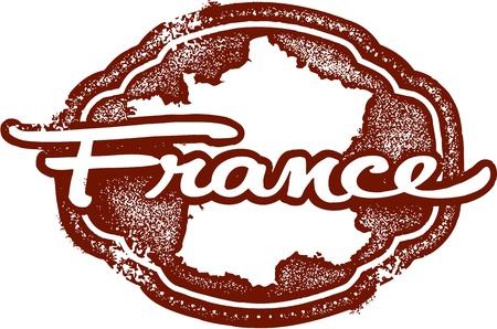 Frankreich Europäische Land Stamp Standard-Bild - 19356686