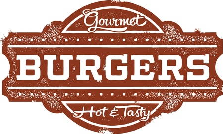 Vintage Style Burgers Sign