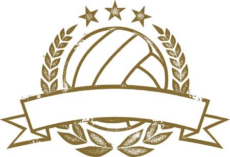 バレーボール月桂冠とバナー 写真素材 - 19371143