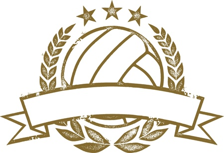 Volleyball Laurel Wreath and Banner Stock Vector - 19371143