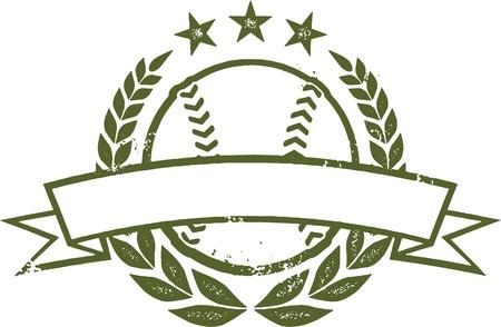 Grunge Baseball oder Softball Auszeichnung Design-