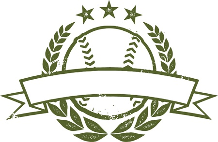 Grunge Baseball or Softball Award Design Zdjęcie Seryjne - 19600967