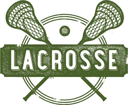 Vintage Lacrosse Sport Clip Art Stock Vector - 19744121