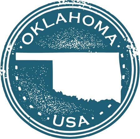 oklahoma: Vintage Style Oklahoma State Stamp