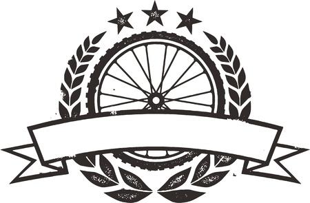 fahrradrennen: Mountain Bike Rennen Kranz